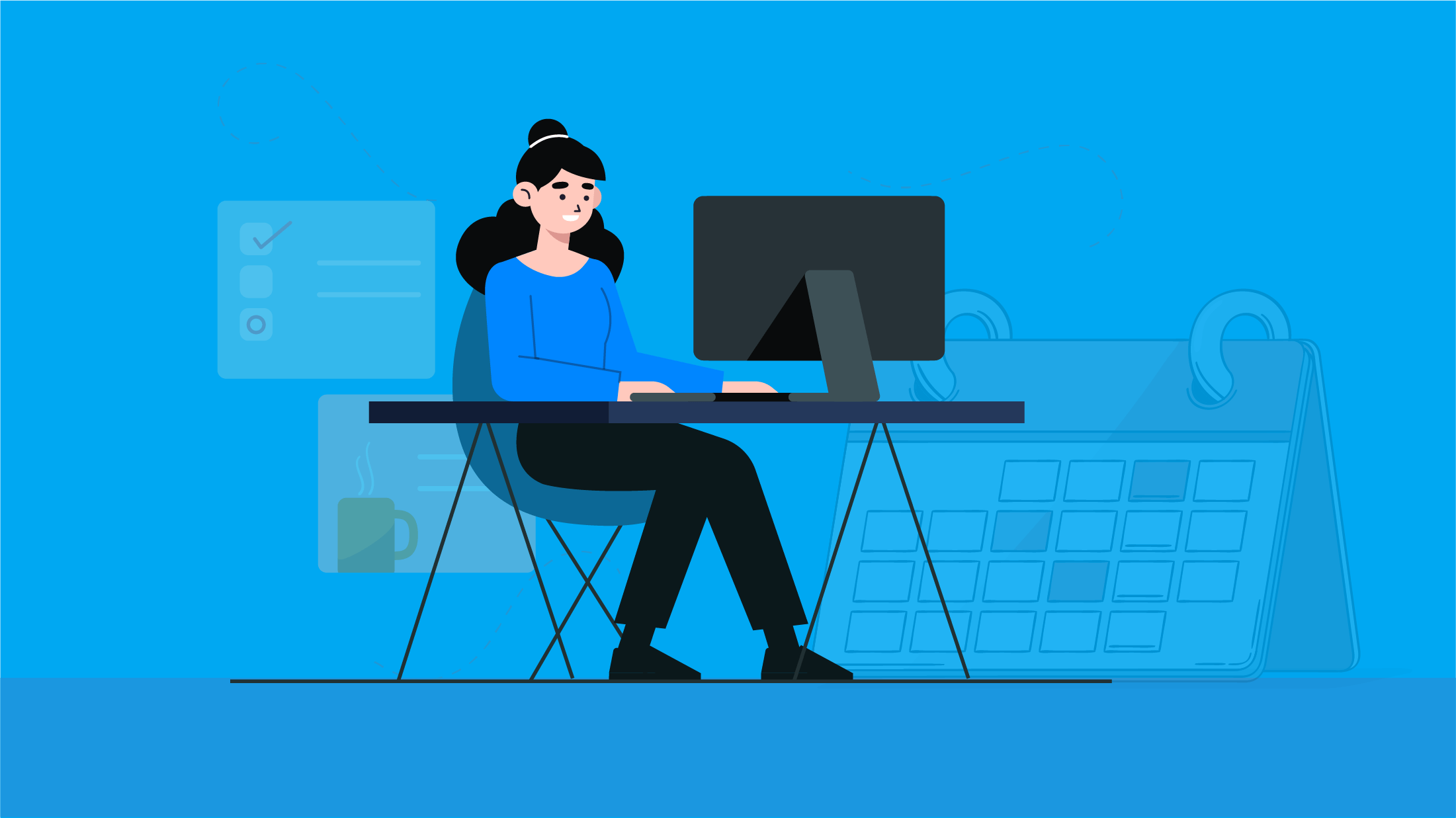 Tracking productivity in a remote work environment